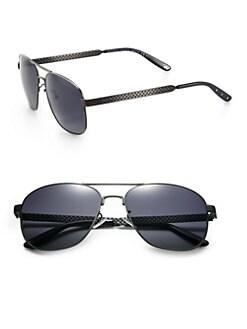 Bottega Veneta - Semi-Matte Aviator Sunglasses