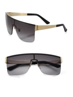 Rimless Shield 99MM Square Sunglasses