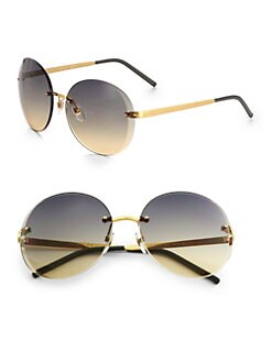 Gucci - Rimless Oversized Round Sunglasses