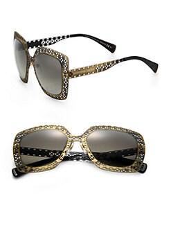 Alexander McQueen - Filigree 53mm Square Sunglasses