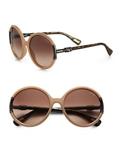 Lanvin - Swarovski Crystal Accented Round Sunglasses