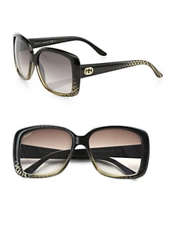 Gucci - Rectangular GG Acetate Sunglasses