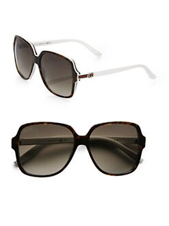 Gucci - Glam Web Square Sunglasses
