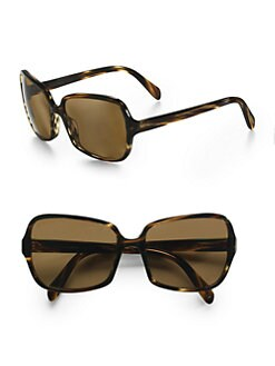 Oliver Peoples - Francisca Square Sunglasses/Cocobolo