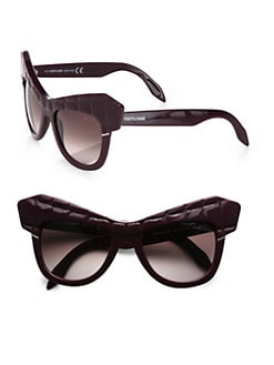 Roberto Cavalli - Wild Diva Acetate Croc Cat's-Eye Sunglasses