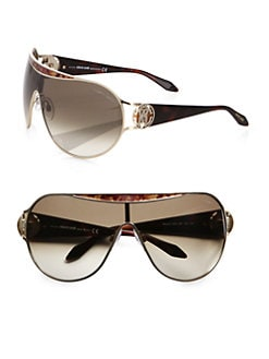 Roberto Cavalli - Marotiri Oversized Shield Sunglasses/Brown