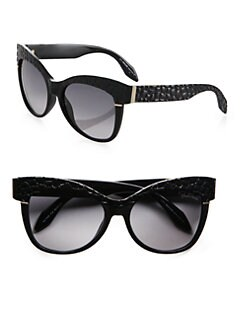Roberto Cavalli - Teti Croc Cat's-Eye Sunglasses