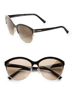 Valentino - Retro Glam Metal Round Sunglasses