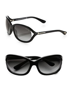 Tom Ford Eyewear - Vivienne Square Acetate Sunglasses/Black