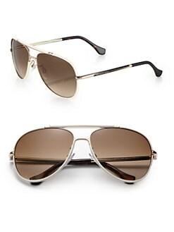 Balenciaga - 60mm Aviator Sunglasses