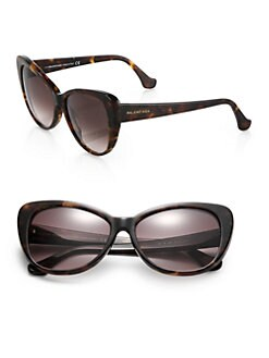 Balenciaga - 57mm Tortoiseshell Acetate Cat's-Eye Sunglasses