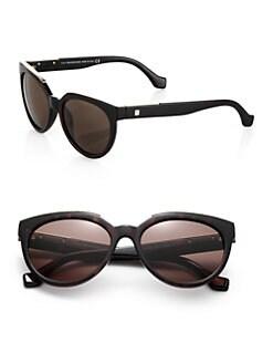 Balenciaga - Metal-Trimmed 55mm Oval Sunglasses <br>