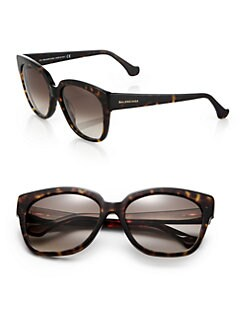Balenciaga - 59mm Tortoiseshell Acetate Square Sunglasses