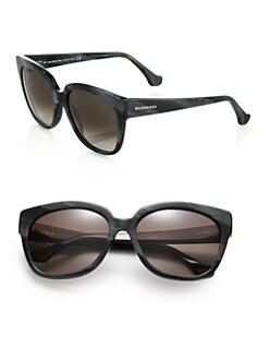 Balenciaga - 59mm Marbleized Square Sunglasses