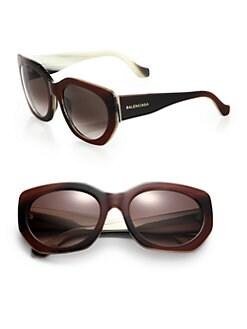 Balenciaga - 57mm Angular Round Sunglasses