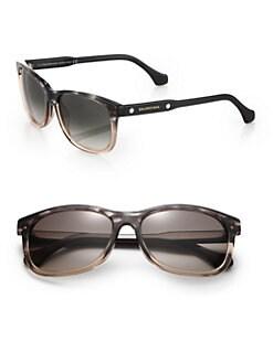 Balenciaga - 57mm Marbleized Rectangle Sunglasses