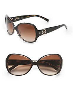 Tory Burch - Full Rim Oval Sunglasses