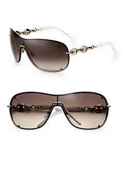 Gucci - Metal Shield Sunglasses