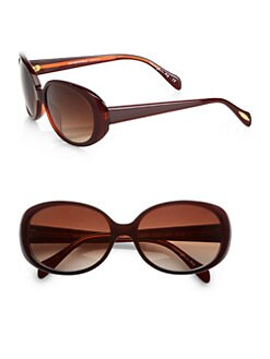 Oliver Peoples - Alyssia Acetate Round Sunglasses/Red