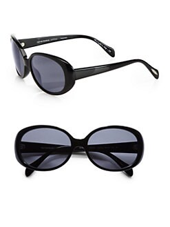 Oliver Peoples - Alyssia Round Acetate Sunglasses/Black