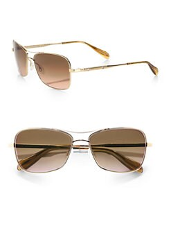 Oliver Peoples - Sanford Square Metal Sunglasses