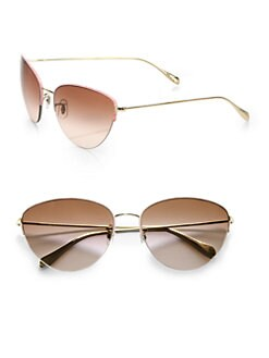 Oliver Peoples - Kiley Metal Cat's-Eye Sunglasses