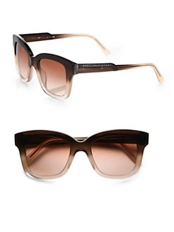 Stella McCartney - Oversized Square Acetate Frames/Brown