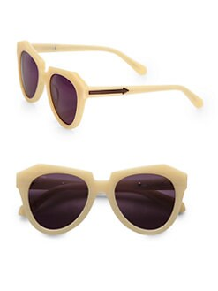 Karen Walker - Number One Acetate Round Sunglasses/Vanilla
