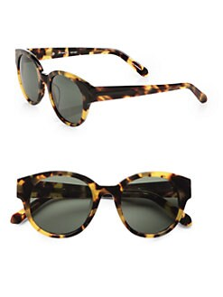 Karen Walker - Anywhere Round Sunglasses/Tortoise
