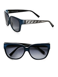 Fendi - Zucca Metal Wayfarer Sunglasses