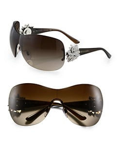 BVLGARI - Crystal Starburst Shield Sunglasses