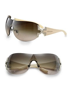 BVLGARI - Embellished Wrap Shield Sunglasses