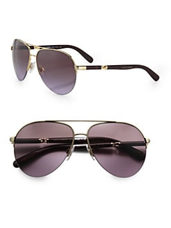 Dolce & Gabbana - Semi-Rimless Aviator Sunglasses