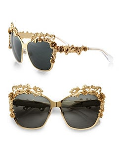 Dolce & Gabbana - Fashion Show Embellished Cat's-Eye Sunglasses