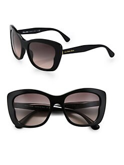 Miu Miu - Oversized Acetate Butterfly Sunglasses