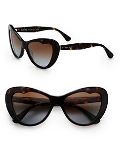 Miu Miu - Heart Cat's-Eye Acetate Sunglasses