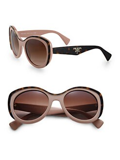 Prada - Oversized Round Acetate Sunglasses