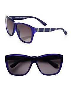 Marc by Marc Jacobs - Wayfarer-Inspired Striped Square Sunglasses