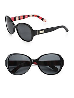 Kate Spade New York - Cymone Round Acetate Sunglasses