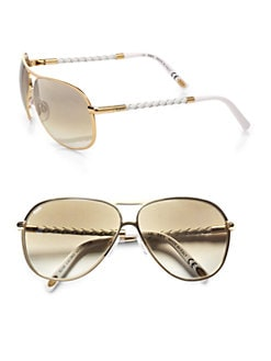 Tod's - Classic Aviator Sunglasses/Gold
