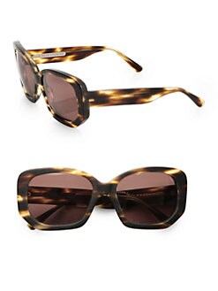 Acne - Oversized Tortoise Acetate Sunglasses