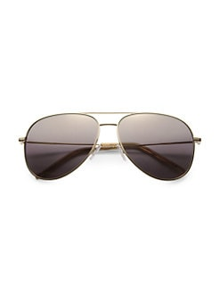 Saint Laurent - Stainless Steel Aviator Sunglasses