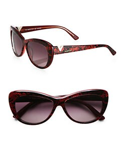 Valentino - Lace Cat's-Eye Sunglasses