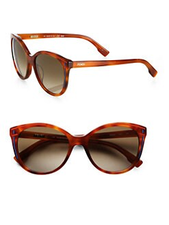 Fendi - Round Ophra Enamel Sunglasses