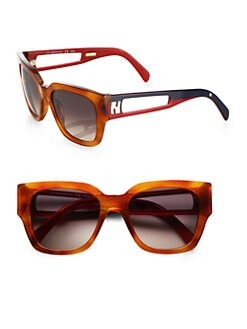 Fendi - Silvana Square Logo Sunglasses