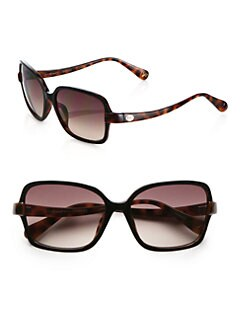 Diane von Furstenberg - Carina Colorblocked Rectangular Sunglasses