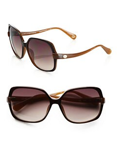 Diane von Furstenberg - Jazmine Colorblocked Square Sunglasses