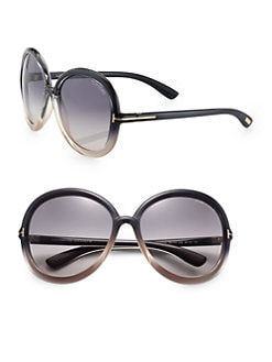 Tom Ford Eyewear - Candice Round Acetate Sunglasses