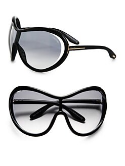 Tom Ford Eyewear - Grant Oversized Round Shield Sunglasses/Black