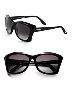 Tom Ford Eyewear - Lana Square Cat's-Eye Sunglasses/Black